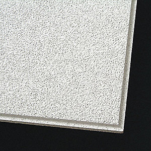 "Ceiling Tile,24"" W,24"" L,7/8"" Thick,PK10"