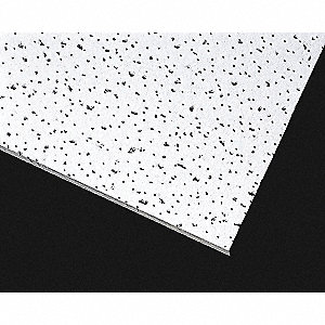 "Ceiling Tile, 24"" Width, 24"" Length, 5/8"" Thickness, Ceramic, Mineral Fiber"
