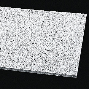 "Ceiling Tile,24"" W,24"" L,5/8"" Thick,PK12"