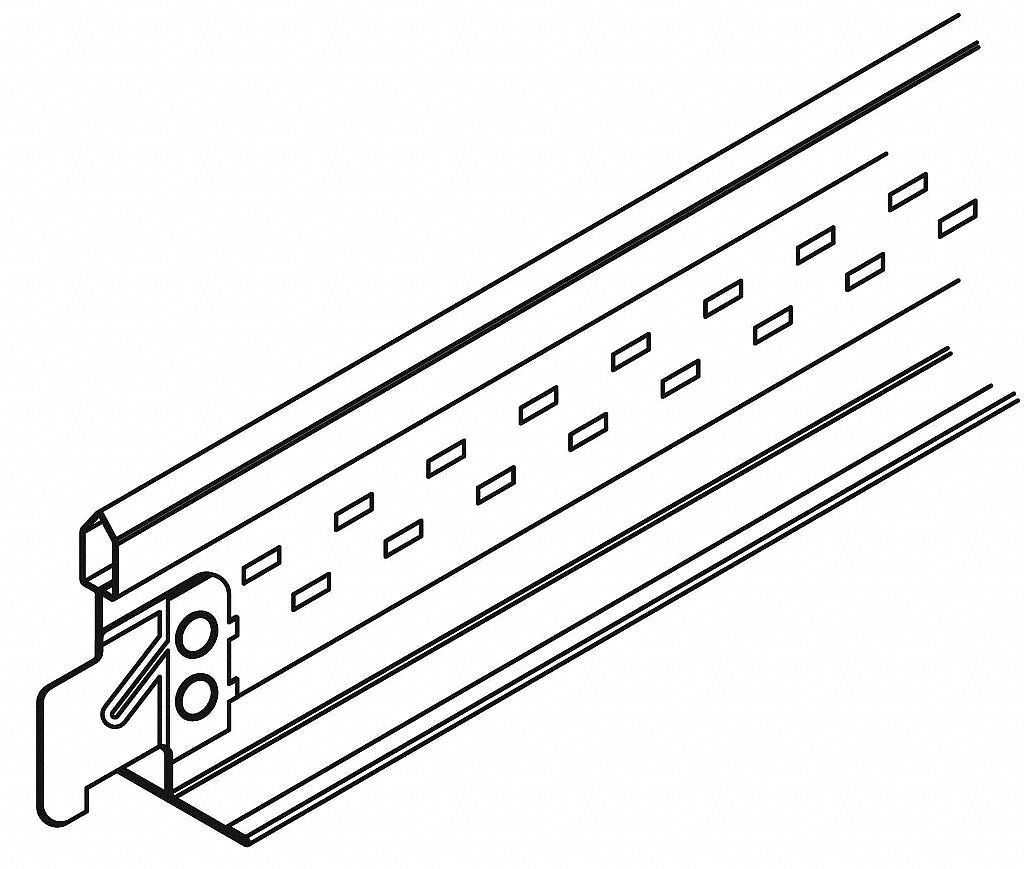 Ceiling Tile Suspension System,  Cross Tee,  1 3/8 in Height,  15/16 in Width,  24 in Length