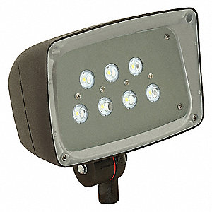 2448 Lumens LED Floodlight, Dark Bronze, LED Replacement For 100W HPS/MH