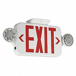 Exit Sign with Emergency Lights,3.56W