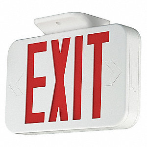 Exit Sign with Battery Backup,3.6W,Red