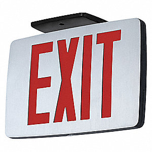 Exit Sign with Battery Backup,1W,LED