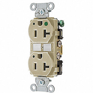 Receptacle,Duplex,20A,5-20R,125V,Ivory
