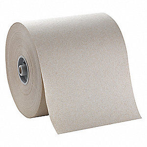 800 ft. 1-Ply Paper Towel Roll, Brown&#x3b; PK6