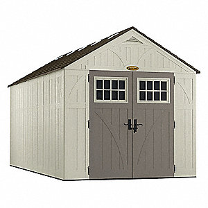 Outdr Storage Shed,100-1/2inWx195-1/4inD
