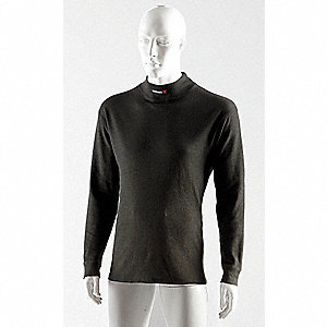 Black Flame-Resistant Base Layer Shirt, Size: 4XL, 12.3 cal./cm2 ATPV Rating
