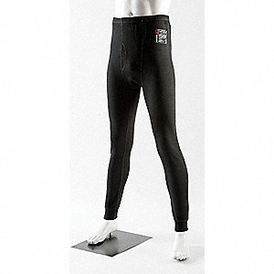 Unisex Flame-Resistant Base Layer Pants, Black, Size S
