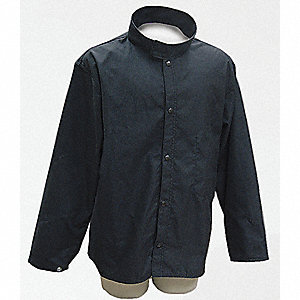 Flame-Resistant Jacket, Navy, S, 30in.L