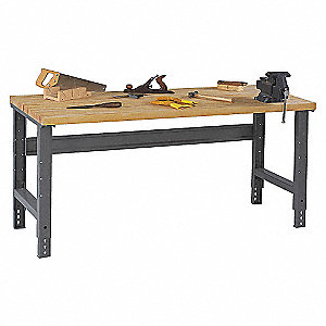 WBA-1-3696W MAPLE TOP/ADJ LEGS