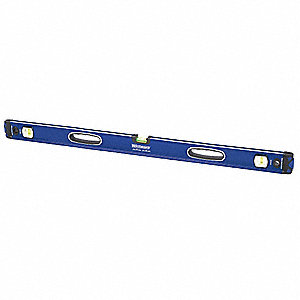 "Nonmagnetic, Aluminum I-Beam Level, 48"" Length, Top Read: No"