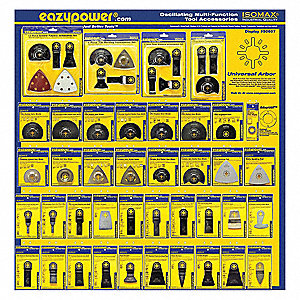 Oscillating Tool Accessories, 4in, 40 pcs.