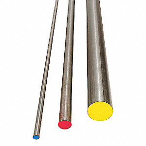 Water Hard Drill Rod,W1,31/64,0.4843 In