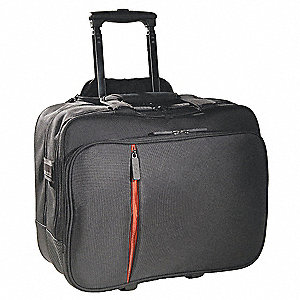 "1680D Ballistic Nylon Roller Laptop Case for Up to 16.1"" Laptop, Black"