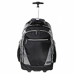 73eacb98de40 ECO STYLE 1680D Ballistic Nylon Roller Laptop Backpack for Up to 17.3