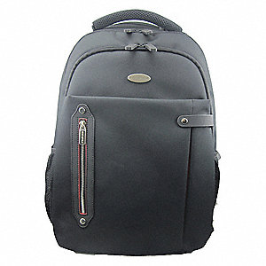 "Nylon Laptop Backpack for Up to 16.1"" Laptop, Black"