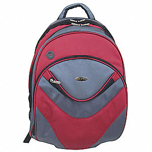 Laptop Backpack,Red/Gray,16.1 In.