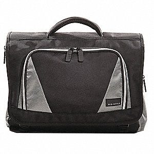 "1680D Ballistic Nylon Laptop Case for Up to 16.4"" Laptop, Black/Platinum"