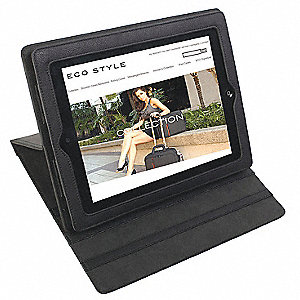Premium PU Leather iPad Case Fits iPad 2 and 3, Black