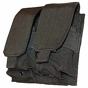 MOLLE Tactical Pckt,Dbl M4 Mag,Black