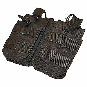 MOLLE Pocket,Dbl Stack M4 Mag,Coyote
