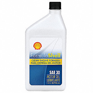 Conventional Engine Oil 1 Qt Bottle Sae Grade 30 Amber