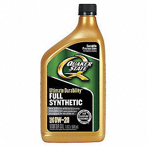 Quaker state motor oil 1 qt 0w 20 full synthetic 33gr89 for What is synthetic motor oil made out of