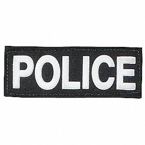 GH Tactical POLICE ID,Hook Backing,S,Blk