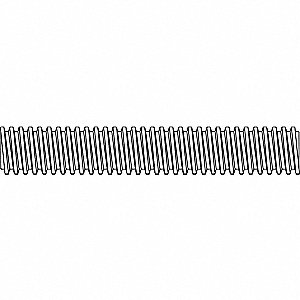 "1""-5x10"", Threaded Rod, Steel, Low Carbon, Zinc Plated, Package Quantity 3"