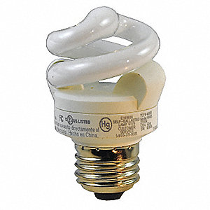 4.0 Watts  Screw-In CFL, T3, Medium Screw (E26), 250 Lumens 2700K Bulb Color Temp.