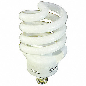 55 Watts  Screw-In CFL, T3, Medium Screw (E26), 3500 Lumens 5000K Bulb Color Temp.