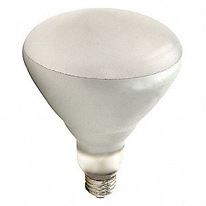 125 Watts Incandescent Lamp, BR40, Medium Screw (E26), 2800K Bulb Color Temp., 1 EA