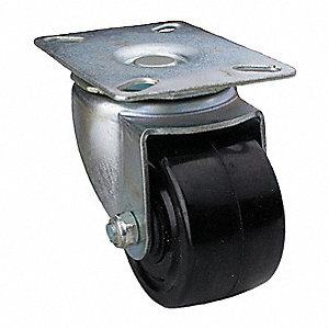 Swivel Plate Cstr,Polyolefin,3 in,350 lb