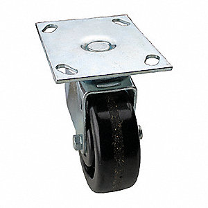 "5"" Light-Medium Duty  Swivel Plate Caster, 450 lb. Load Rating"