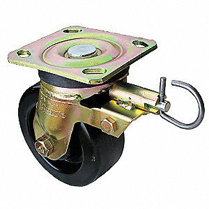 "6"" Medium-Duty Swivel Plate Caster, 1250 lb. Load Rating"