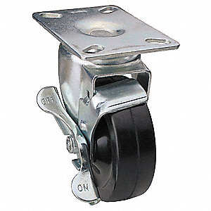 "4"" Plate Caster, 200 lb. Load Rating"
