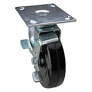 "6"" Light-Duty Swivel Plate Caster, 280 lb. Load Rating"