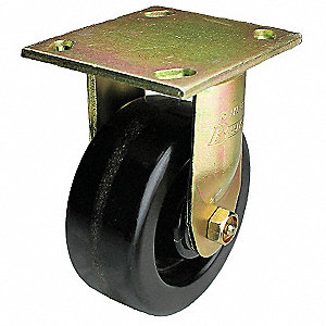Rigid Plate Caster,8 in. Dia.,1200 lb.