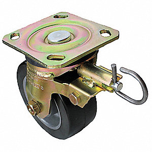 "8"" Light-Medium Duty Swivel Plate Caster, 500 lb. Load Rating"
