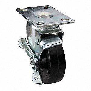 "5"" Light-Duty Swivel Plate Caster, 240 lb. Load Rating"