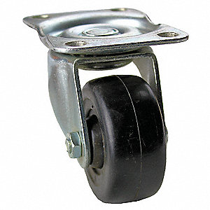 "2-1/2"" Light-Duty Swivel Plate Caster, 200 lb. Load Rating"