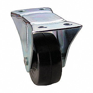 "2-1/2"" Light-Duty  Rigid Plate Caster, 100 lb. Load Rating"