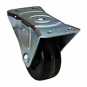 Rigid Plate Caster,450 lb.,1-5/8 in W