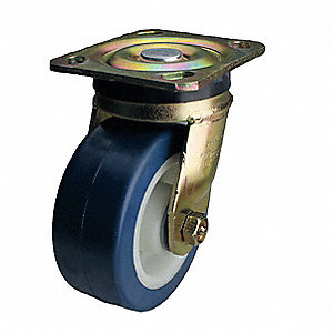 "5"" Light-Medium Duty Swivel Plate Caster, 750 lb. Load Rating"