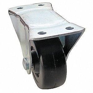 "3"" Light-Duty Rigid Plate Caster, 270 lb. Load Rating"
