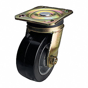 "5"" Light-Medium Duty Swivel Plate Caster, 350 lb. Load Rating"