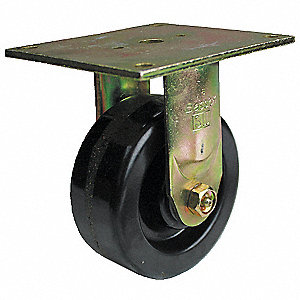 "8"" Medium-Duty Rigid Plate Caster, 1200 lb. Load Rating"