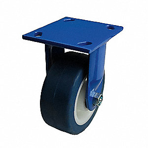 "5"" Light-Medium Duty Rigid Plate Caster, 750 lb. Load Rating"