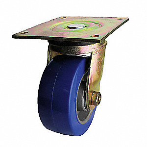"5"" Medium-Duty Swivel Plate Caster, 1050 lb. Load Rating"